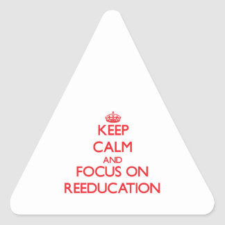Keep Calm and focus on Reeducation Triangle Sticker