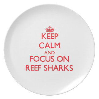 Keep calm and focus on Reef Sharks Party Plates