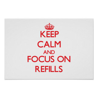 Keep Calm and focus on Refills Posters