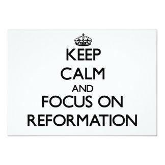 Keep Calm and focus on Reformation Custom Invitations