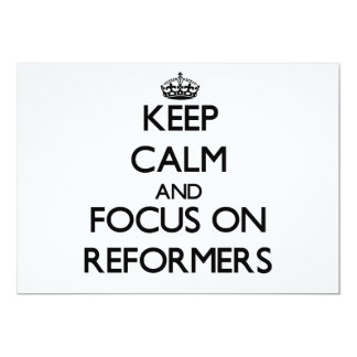 Keep Calm and focus on Reformers Personalized Announcement