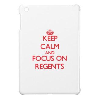 Keep Calm and focus on Regents iPad Mini Covers