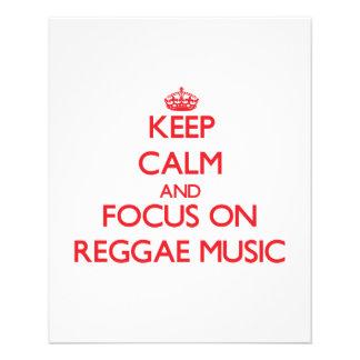 Keep Calm and focus on Reggae Music Flyer