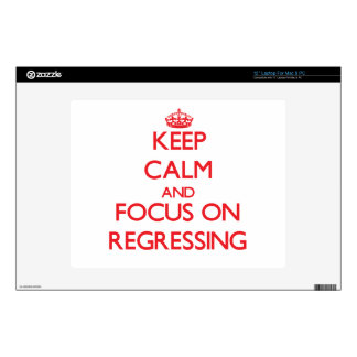 """Keep Calm and focus on Regressing 12"""" Laptop Decal"""