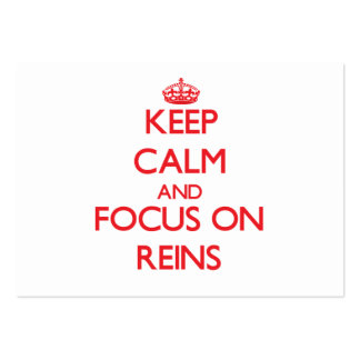 Keep Calm and focus on Reins Large Business Cards (Pack Of 100)