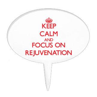 Keep Calm and focus on Rejuvenation Cake Picks