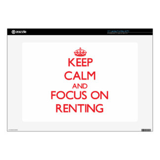 Keep Calm and focus on Renting Laptop Decal