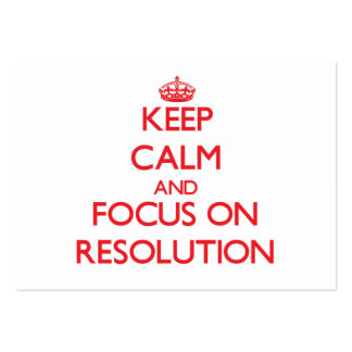 Keep Calm and focus on Resolution Large Business Cards (Pack Of 100)