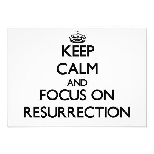 Keep Calm and focus on Resurrection Invites