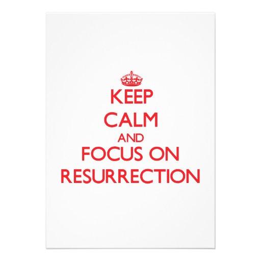 Keep Calm and focus on Resurrection Card