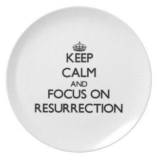 Keep Calm and focus on Resurrection Dinner Plates