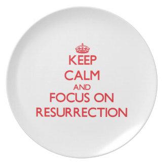 Keep Calm and focus on Resurrection Dinner Plate