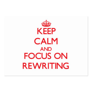 Keep Calm and focus on Rewriting Business Card Template