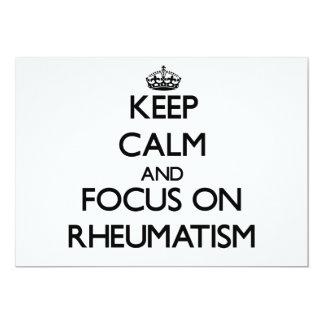 Keep Calm and focus on Rheumatism Custom Announcement