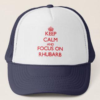 Keep Calm and focus on Rhubarb Trucker Hat