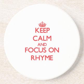 Keep Calm and focus on Rhyme Coaster