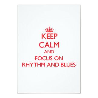 Keep Calm and focus on Rhythm And Blues 5x7 Paper Invitation Card