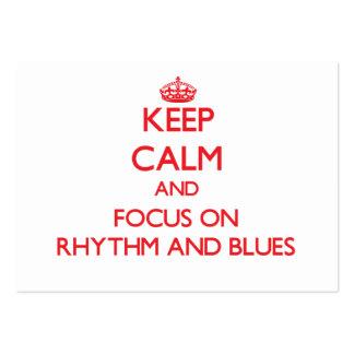 Keep Calm and focus on Rhythm And Blues Business Card Template