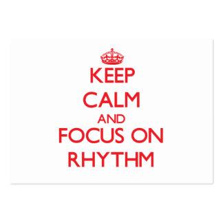 Keep Calm and focus on Rhythm Business Card Template