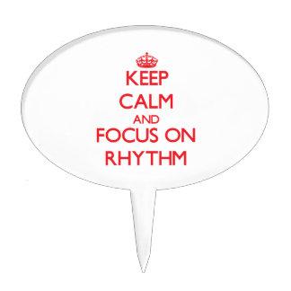 Keep Calm and focus on Rhythm Cake Pick