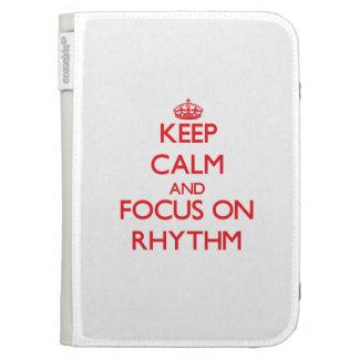 Keep Calm and focus on Rhythm Kindle Cases