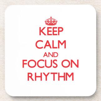 Keep Calm and focus on Rhythm Drink Coaster
