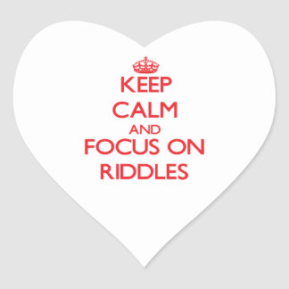 Keep Calm and focus on Riddles Sticker