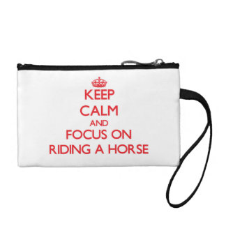 Keep Calm and focus on Riding A Horse Coin Wallets