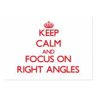 Keep Calm and focus on Right Angles Business Card Templates