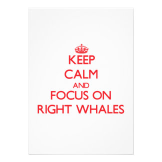 Keep calm and focus on Right Whales Personalized Invite