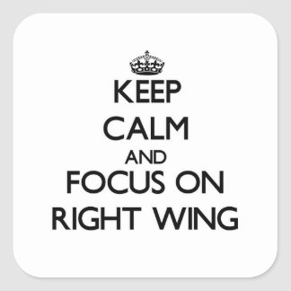 Keep Calm and focus on Right Wing Sticker
