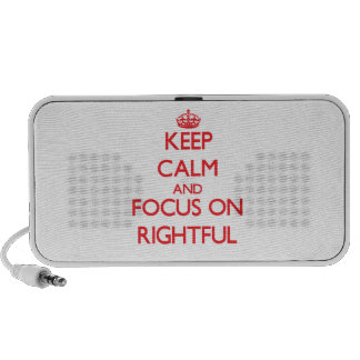 Keep Calm and focus on Rightful Mini Speaker