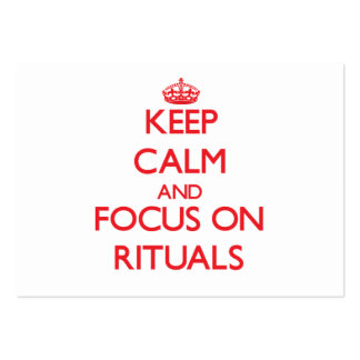 Keep Calm and focus on Rituals Business Cards