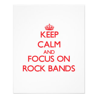 Keep Calm and focus on Rock Bands Personalized Flyer
