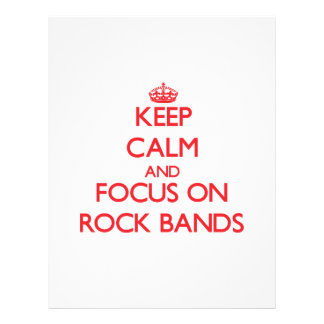 Keep Calm and focus on Rock Bands Flyer