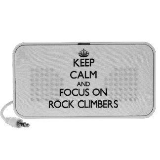 Keep Calm and focus on Rock Climbers Notebook Speaker