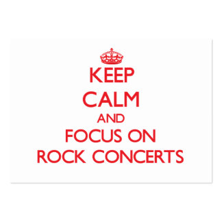 Keep Calm and focus on Rock Concerts Large Business Cards (Pack Of 100)