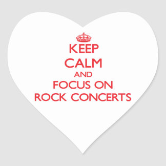 Keep Calm and focus on Rock Concerts Sticker