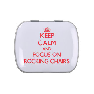 Keep Calm and focus on Rocking Chairs Jelly Belly Tin