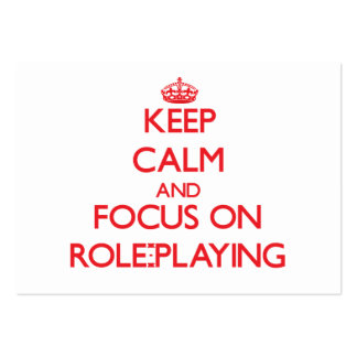 Keep Calm and focus on Role-Playing Large Business Cards (Pack Of 100)