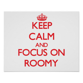 Keep Calm and focus on Roomy Posters