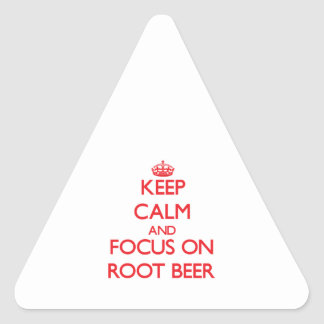 Keep Calm and focus on Root Beer Stickers
