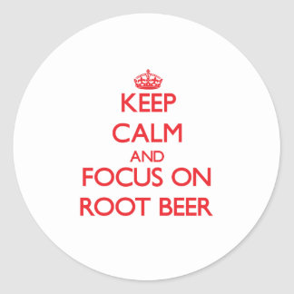 Keep Calm and focus on Root Beer Sticker