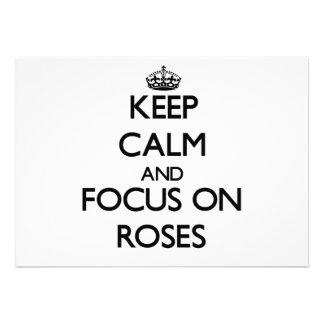 Keep Calm and focus on Roses Custom Invite