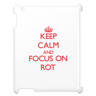 Keep Calm and focus on Rot iPad Covers