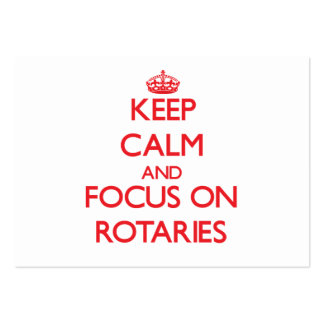 Keep Calm and focus on Rotaries Large Business Cards (Pack Of 100)
