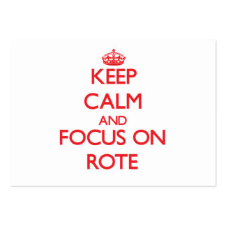 Keep Calm and focus on Rote Business Card Templates
