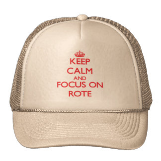 Keep Calm and focus on Rote Trucker Hat