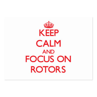 Keep Calm and focus on Rotors Large Business Cards (Pack Of 100)