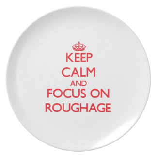 Keep Calm and focus on Roughage Party Plate